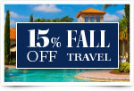 15% Off Fall Travel