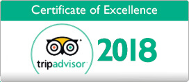 Tripadvisor Certificate of Excellence for 2018
